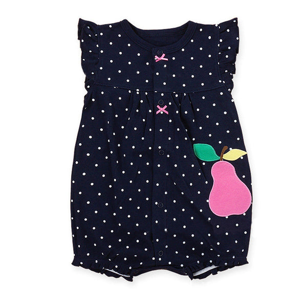 dcfb205eb Baby Rompers Summer Baby Girls Clothing Cartoon Newborn Baby Clothes Short  Sleeve Baby Girl Clothes Infant