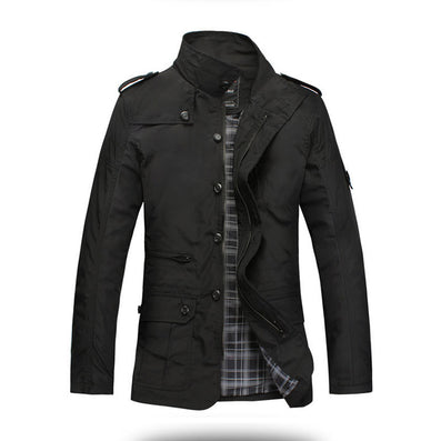 Fashion Thin Men Jacket Coat Sell Casual Wear 5XL Comfort Autumn Overcoat Outwear Necessary - CelebritystyleFashion.com.au online clothing shop australia