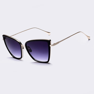 Fashion Women Sunglasses Cat Mirror Glasses Metal Cat Eye Sunglasses Women Brand Designer High Quality Square Style - CelebritystyleFashion.com.au online clothing shop australia