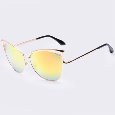 AOFLY New Metal Frame Sexy Cat Eye Sunglasses for Women Coating Brand Vintage Sun Glasses Female Oculos de grau Femininos UV400 - CelebritystyleFashion.com.au online clothing shop australia