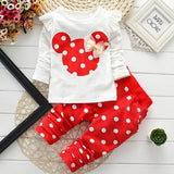 kids clothes girl baby long rabbit sleeve cotton Minnie casual suits baby clothing retail children suits Free shipping - CelebritystyleFashion.com.au online clothing shop australia