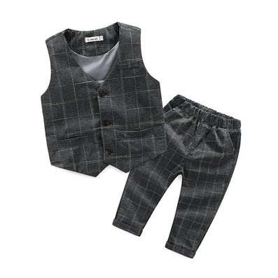 children's leisure clothing sets kids baby boy suit vest gentleman clothes for weddings formal clothing - CelebritystyleFashion.com.au online clothing shop australia