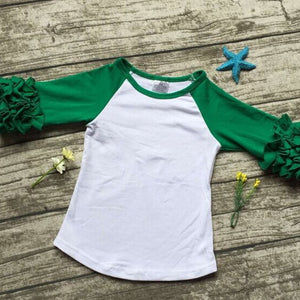 girls clothes o-neck baby girls kids icing ruffle raglan tops shirts girls casual tops fall Autumn top T-shirt - CelebritystyleFashion.com.au online clothing shop australia