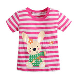 Girl t-shirt big Girls tees shirts children blouse t-shirts kids summer clothes jacket rabbit pink - CelebritystyleFashion.com.au online clothing shop australia
