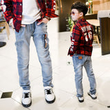 Spring Autumn new boys jeans Kids Rushed Light-colored fashion Children jean Trousers B135 - CelebritystyleFashion.com.au online clothing shop australia