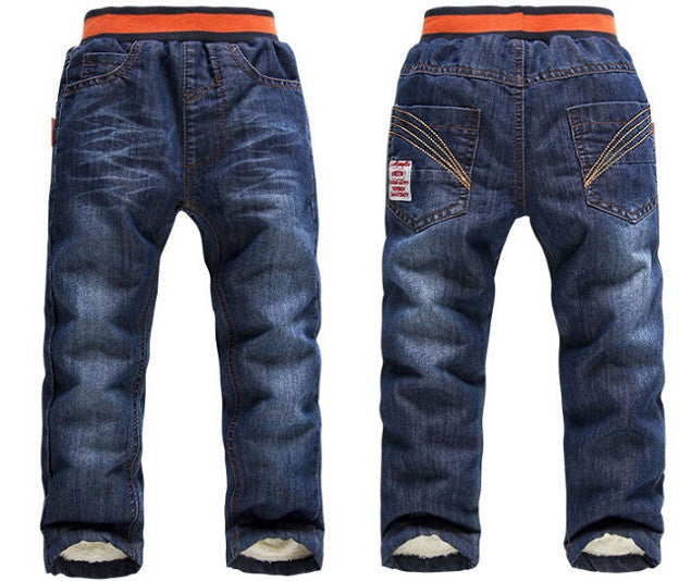 as picture / 3TBoys / girls warm thick winter pants boys jeans KK-Rabbit brand children boy / girls jeans retail