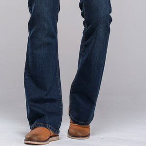 Mens jeans boot cut leg slightly flared slim fit famous brand blue black male jeans designer classic denim Jeans - CelebritystyleFashion.com.au online clothing shop australia