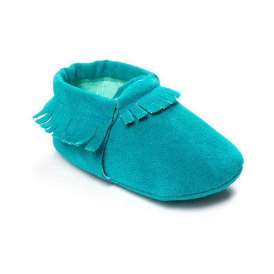 58804a38f00 ... Non-slip Footwear Crib Shoe. PU Suede Leather Newborn Baby Boy Girl  Baby Moccasins Soft Moccs Shoes Bebe Fringe Soft Soled