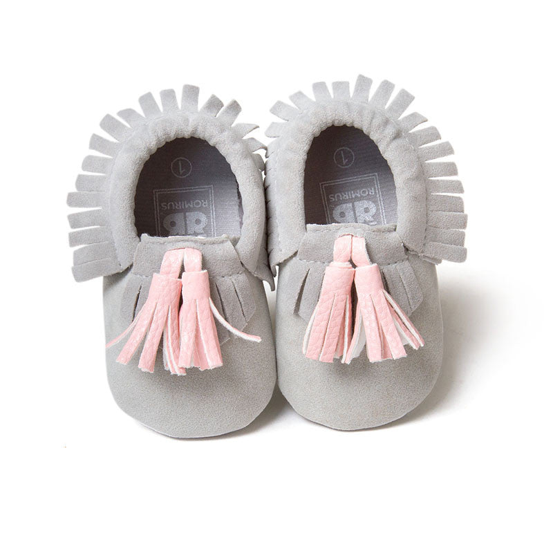 Model 9 / 0-6 MonthsFashion New Styles Suede PU Leather Infant Toddler Newborn Baby Children First Walkers Crib Moccasins Soft Moccs Shoes Footwear