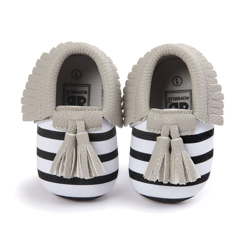 Model 14 / 0-6 MonthsFashion New Styles Suede PU Leather Infant Toddler Newborn Baby Children First Walkers Crib Moccasins Soft Moccs Shoes Footwear