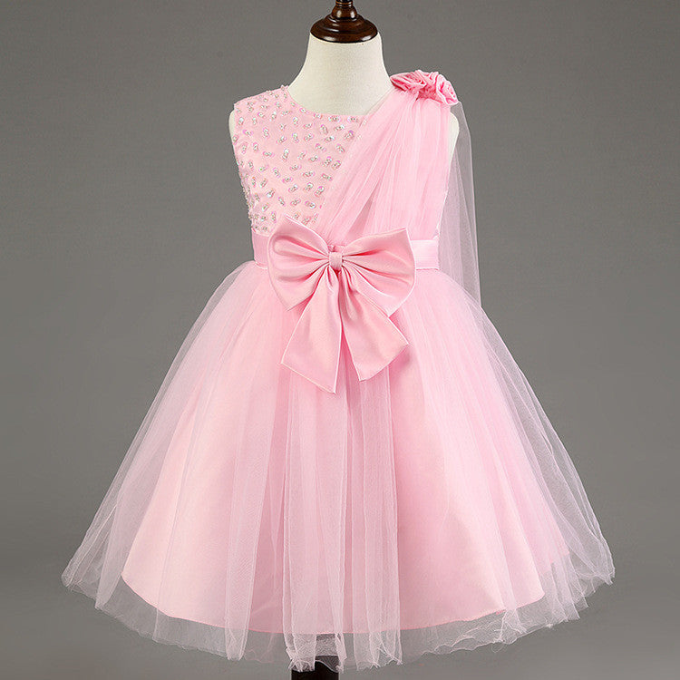 6e40f238c Summer princess baby girls dress for child wear Wedding Pageant ...