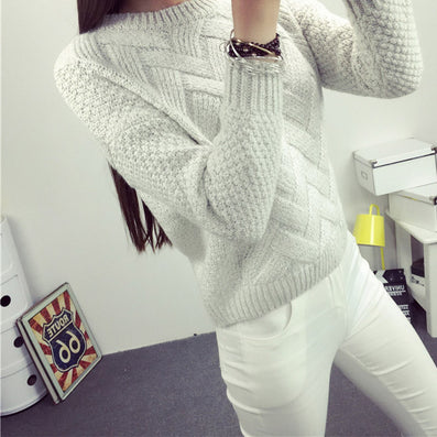 women fashion spring sweaters basic casual knitting winter Pullover KB911 - CelebritystyleFashion.com.au online clothing shop australia