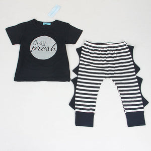 Keelorn Summer Style Infant Clothes Baby Clothing Sets Three small fish model Cotton Short Sleeve 2pcs Baby Boy Clothes - CelebritystyleFashion.com.au online clothing shop australia