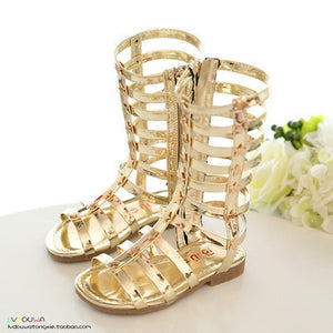 female children sandals princess shoes high shoes cutout gladiator baby boots - CelebritystyleFashion.com.au online clothing shop australia