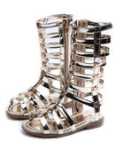 female children sandals princess shoes high shoes cutout gladiator baby boots