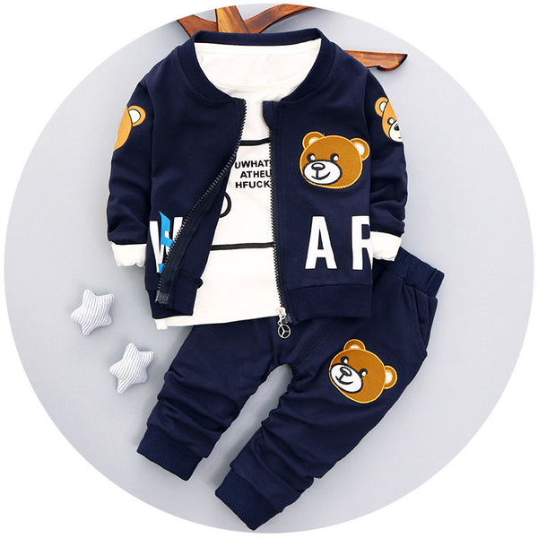 097c96a51 baby boys clothing set Autumn fashion style cotton coat with pants baby  clothes A082