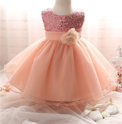 Girl Dress Sequins Pageant Party Baby Kids Clothing Flower Baby Girl Christening Gowns For Princess Toddler Girls Clothes - CelebritystyleFashion.com.au online clothing shop australia