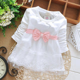 Autumn Baby Girl Dress Cotton Infant Dress Floral Print European Style Vintage Long Sleeve Dress Birthday Baby Clothes - CelebritystyleFashion.com.au online clothing shop australia