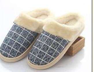 navy / 8cotton slippers lovers household slippers to keep warm shoes