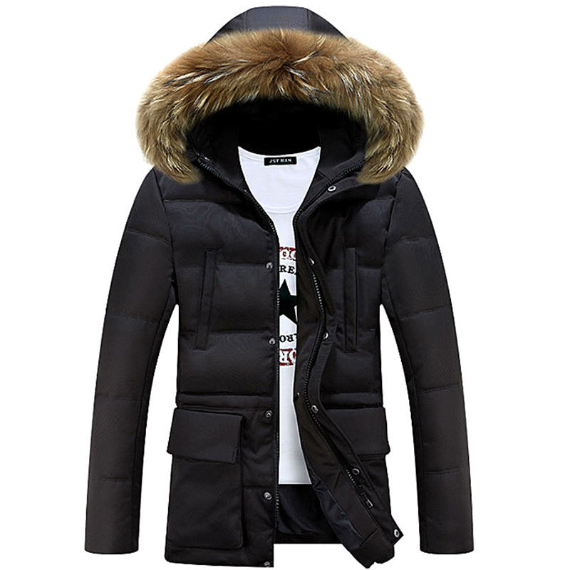 Black / MBrand Winter New Men's Solid Long Parkas Fashion Padded Streetwear Casual Overcoat Winter Jacket Men Suit For -20