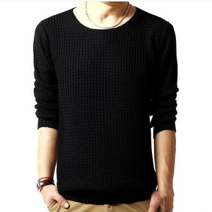 pullover sweater male o-neck sweater spring long sleeved turtleneck sweater knitted men 3 colors SIZE:M-XXL - CelebritystyleFashion.com.au online clothing shop australia