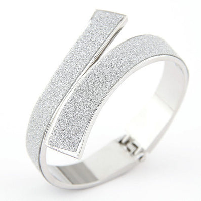 Fashion Gold/Silver Cuff Bracelets & Bangles for Women Men Jewelry Matted Charm Bracelet - CelebritystyleFashion.com.au online clothing shop australia