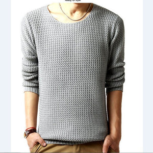 Relaxed-fit sweater pullover male winter knitting brand long sleeve with v-neck fitted sweater jersey size M-XXL - CelebritystyleFashion.com.au online clothing shop australia