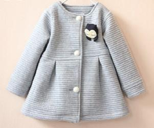 Spring Children Jackets Baby Little Penguin Single Breasted Child Coat Girl Outerwear Jackets For Girls Bow Girl ClothesgreyCELEBRITYSTYLEFASHION