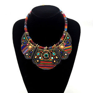New women bohemia necklace&pendants multicolor statement choker necklace za antique tribal ethnic boho jewelry mujer bijoux - CelebritystyleFashion.com.au online clothing shop australia