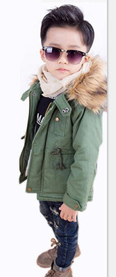 Boys Jackets Winter Coat Solid Long Sleeve Boys Coat Hooded Kids Clothes Fashion Thick Warm Children Clothing 2 Colors - CelebritystyleFashion.com.au online clothing shop australia