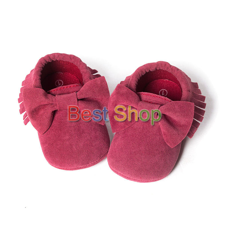 Model 4 / 13-18 MonthsCute Butterfly-knot Tassels Baby Moccasin Quality Infant Babies First Walkers Newborn Footwears Indoor Boots