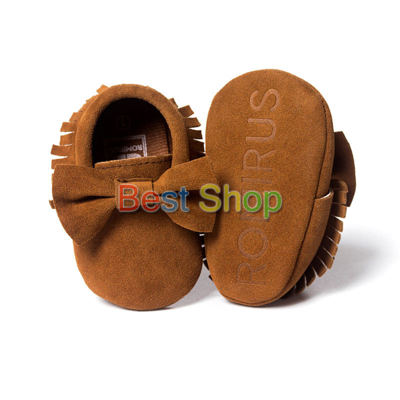 Model 7 / 0-6 MonthsCute Butterfly-knot Tassels Baby Moccasin Quality Infant Babies First Walkers Newborn Footwears Indoor Boots
