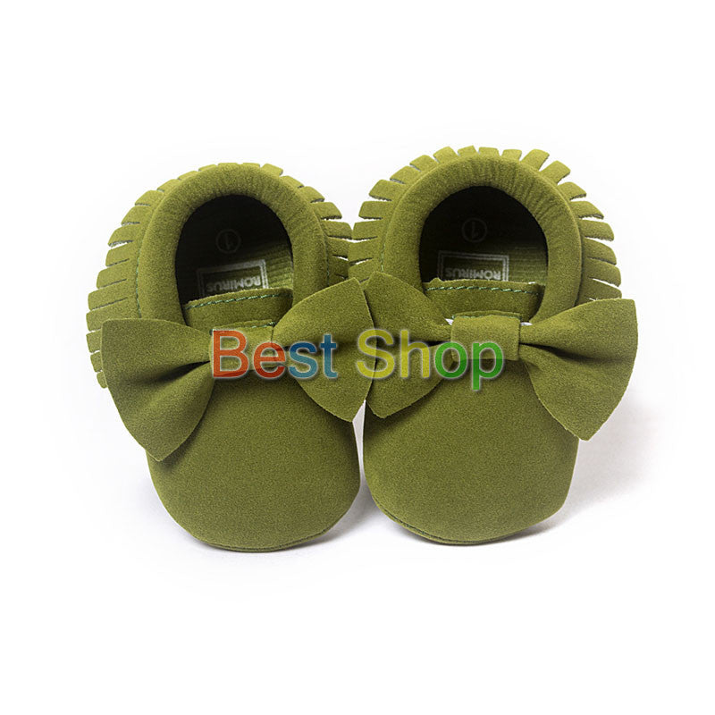 Model 8 / 7-12 MonthsCute Butterfly-knot Tassels Baby Moccasin Quality Infant Babies First Walkers Newborn Footwears Indoor Boots