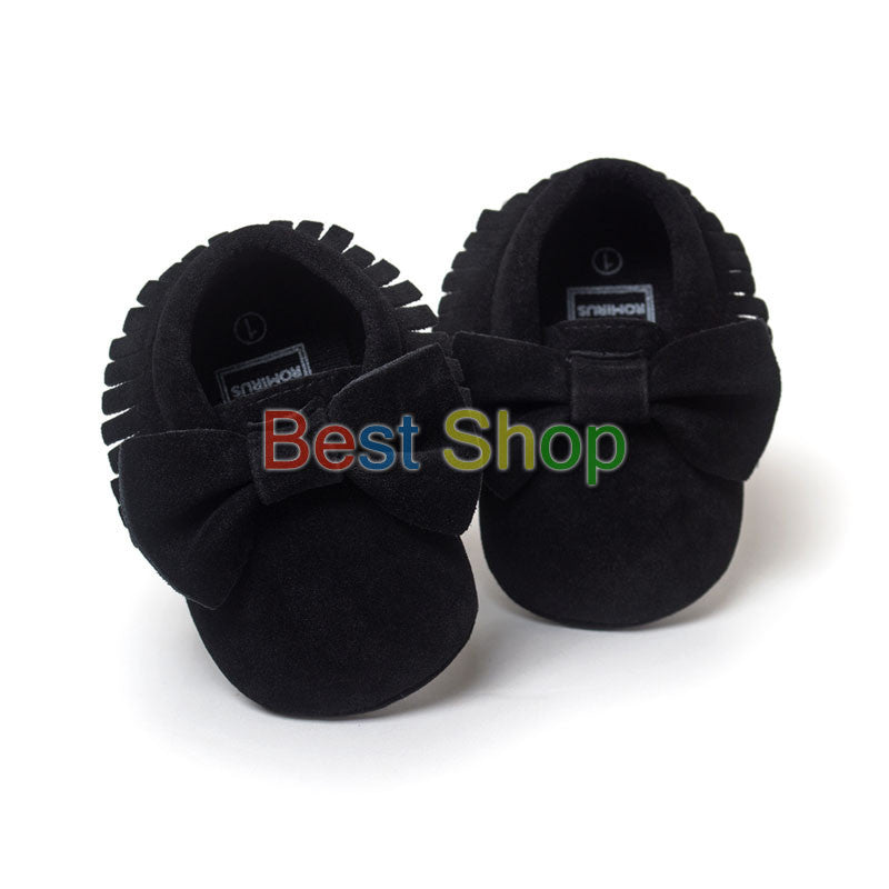 Model 9 / 0-6 MonthsCute Butterfly-knot Tassels Baby Moccasin Quality Infant Babies First Walkers Newborn Footwears Indoor Boots