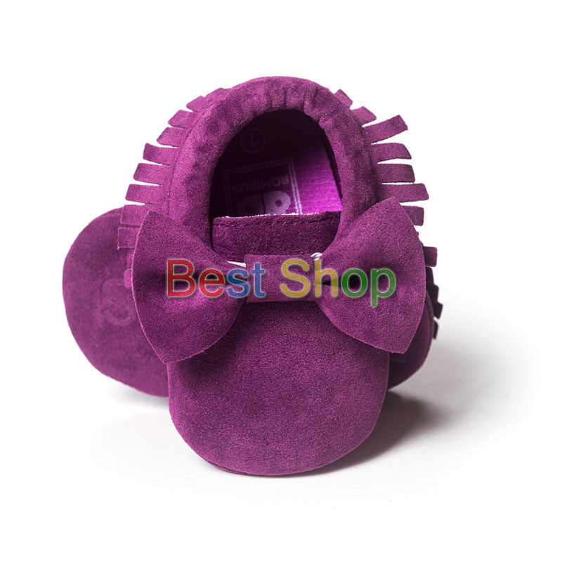 Model 11 / 7-12 MonthsCute Butterfly-knot Tassels Baby Moccasin Quality Infant Babies First Walkers Newborn Footwears Indoor Boots