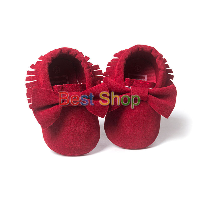 Model 2 / 0-6 MonthsCute Butterfly-knot Tassels Baby Moccasin Quality Infant Babies First Walkers Newborn Footwears Indoor Boots