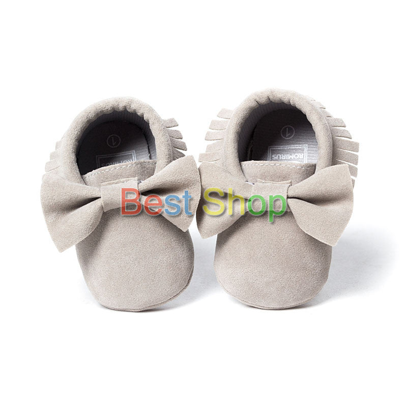 Model 3 / 0-6 MonthsCute Butterfly-knot Tassels Baby Moccasin Quality Infant Babies First Walkers Newborn Footwears Indoor Boots