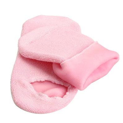 1 Pair Pink Moisturizing Soften Repair Cracked Foot Skin Treatment Gel Spa Socks Foot Care Stretchable Foot Health Care