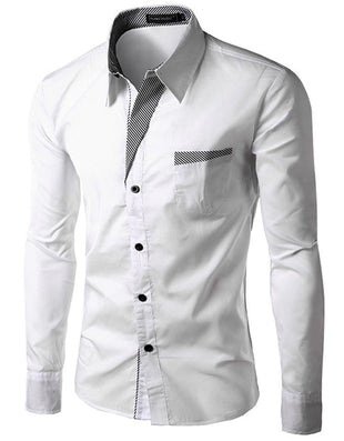 Brand Dress Shirts Mens Striped Shirt Slim Fit Chemise Homme Long sleeve Men Shirt Heren Hemden Slim Camisa Masculina - CelebritystyleFashion.com.au online clothing shop australia