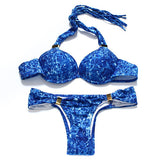 Women Halter Push Up Brazilian Neon swimsuits Sexy Tassel Bikini Fringe String Swimwear Swim String Dye Bathing Suit - CelebritystyleFashion.com.au online clothing shop australia