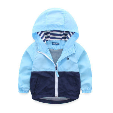 d02ac031ea16 Kids Toddler Boys Jacket Coat Spring Autumn Hooded Windbreaker For ...