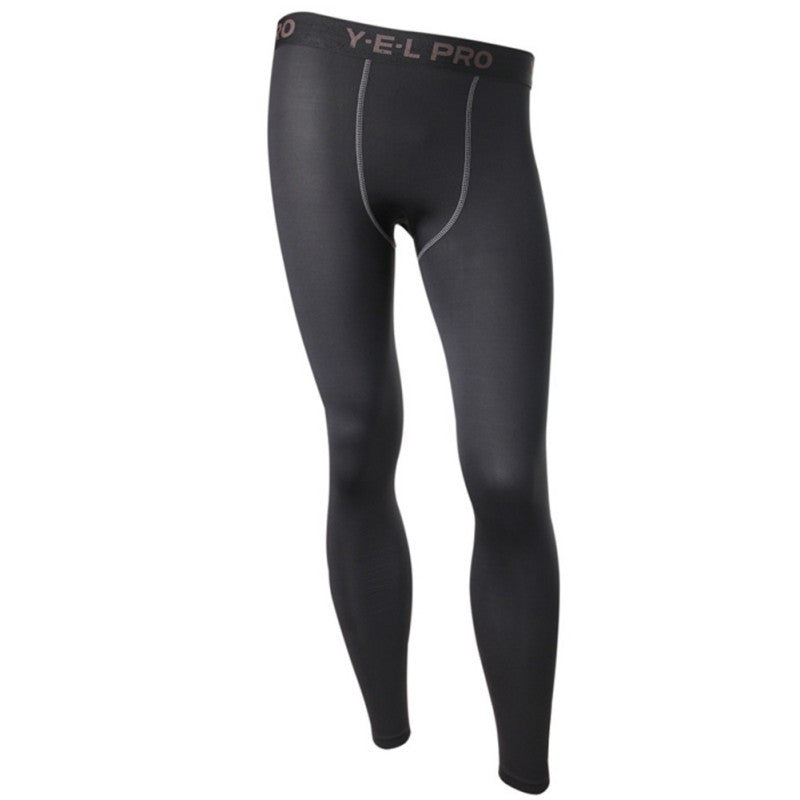 Black / LMen's Compression Pants Base Layers Skin Tight
