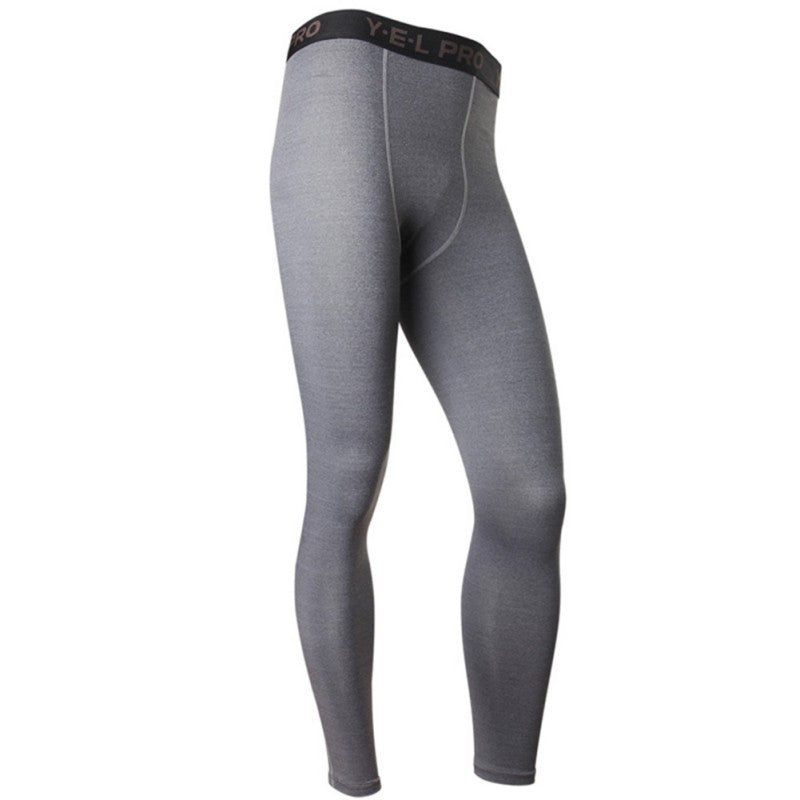 Gray / LMen's Compression Pants Base Layers Skin Tight