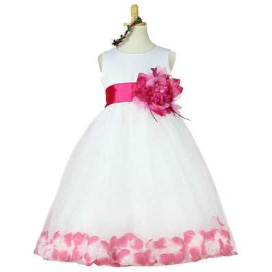 Girls Bridesmaid Dress Rose Petal Hem Cute Princess Tutu Dress Girls Clothing Sets Wedding Birthday Vestidos - CelebritystyleFashion.com.au online clothing shop australia