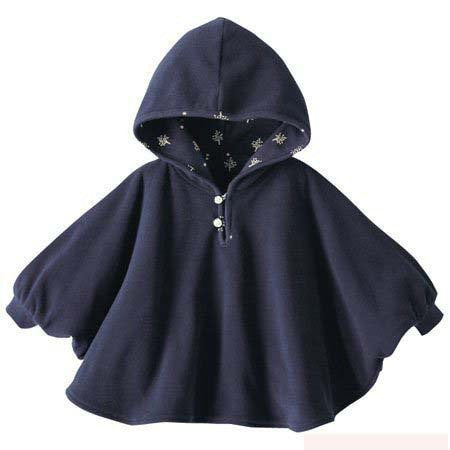 Fashion Baby Coats boys Girl's Smocks Outwear Fleece cloak Jumpers mantle Children's clothing Poncho Cape DD001dark blueCELEBRITYSTYLEFASHION