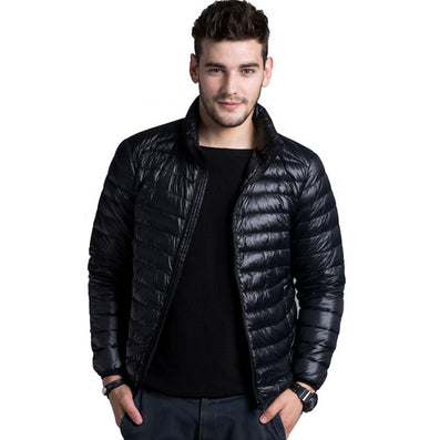 Autumn Winter Duck Down Jacket, Ultra Light Thin plus size winter jacket for men Fashion mens Outerwear coat - CelebritystyleFashion.com.au online clothing shop australia