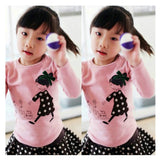 Kids Toddler Clothes Baby Girls Clothing Cartoon Girl Print Long Sleeve T shirts Casual Blouse Tops Children's Clothing - CelebritystyleFashion.com.au online clothing shop australia
