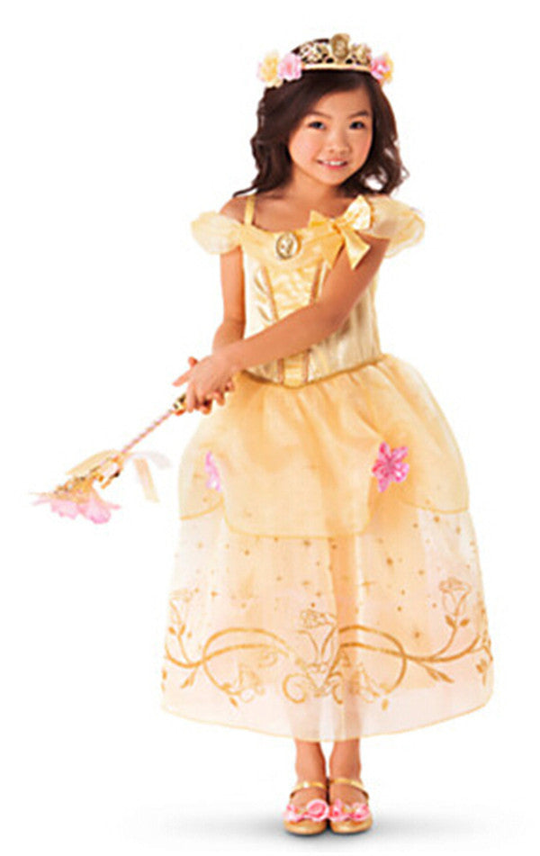 New Girls Party Dresses Kids Summer Princess Dresses for Girls Cinderella  Rapunzel Aurora Belle Cosplay Costume d4c44e1439c9
