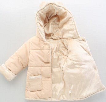Baby Winter Cotton Coat Baby Girl Candy Cute Thick Down Boy Outerwear Snow Wear Fabric Waterproof Handle Infant Hooded Clothing - CelebritystyleFashion.com.au online clothing shop australia