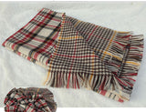 Ladies Scarf Fashion Houndstooth Winter Warm Plaid Double Side Thick Long Shawl Echarpe Pashmina Cape Women Scarves 1WJ3110 - CelebritystyleFashion.com.au online clothing shop australia